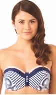 Lucille padded bandeau bikini top